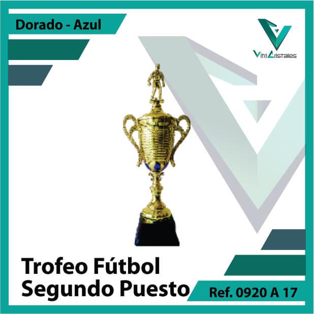 Trofeos deportivos de futbol subcampeon Ref.0920A172ORA para entrega en Cali