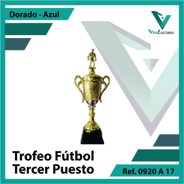 Trofeos deportivos de futbol tercer puesto Ref.0920A173ORA para entrega en Cali