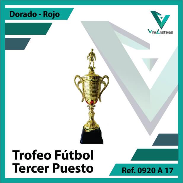 Trofeos deportivos de futbol tercer puesto Ref.0920A173ORR para entrega en Bogotá