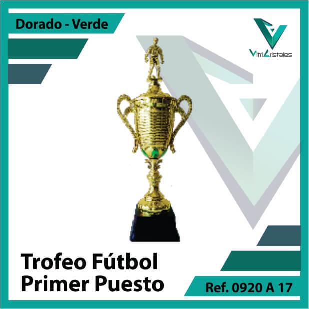 trofeo de futbol 0920a17 dorado y verde primer puesto