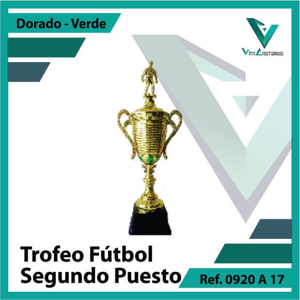 trofeo de futbol 0920a17 dorado y verde segundo puesto
