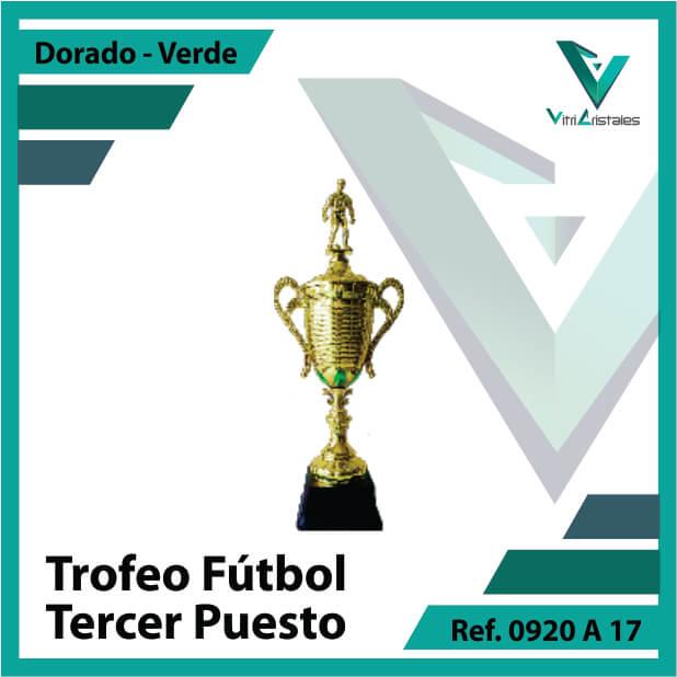 trofeo de futbol 0920a17 dorado y verde tercer puesto