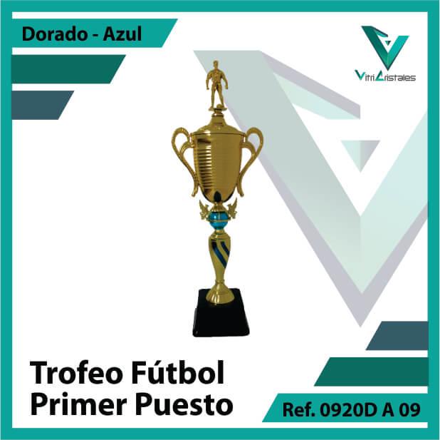 Trofeos deportivos de futbol campeon Ref.0920DA091ORA para entrega en Medellin