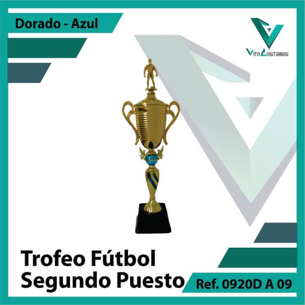 Trofeos deportivos de futbol segundo puesto Ref.0920DA092ORA para entrega en Medellin