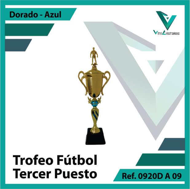 Trofeos deportivos de futbol tercer puesto Ref.0920DA093ORA para entrega en Medellin
