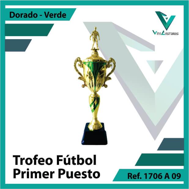 Trofeos deportivos de futbol campeon Ref.1706A091ORV para entrega en Bogotá