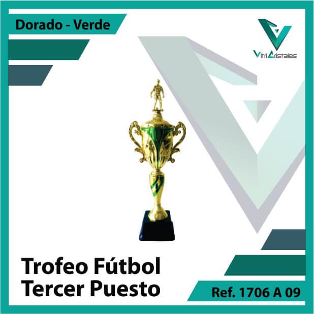 Trofeos deportivos de futbol tercer puesto Ref.1706A093ORV para entrega en Bogotá