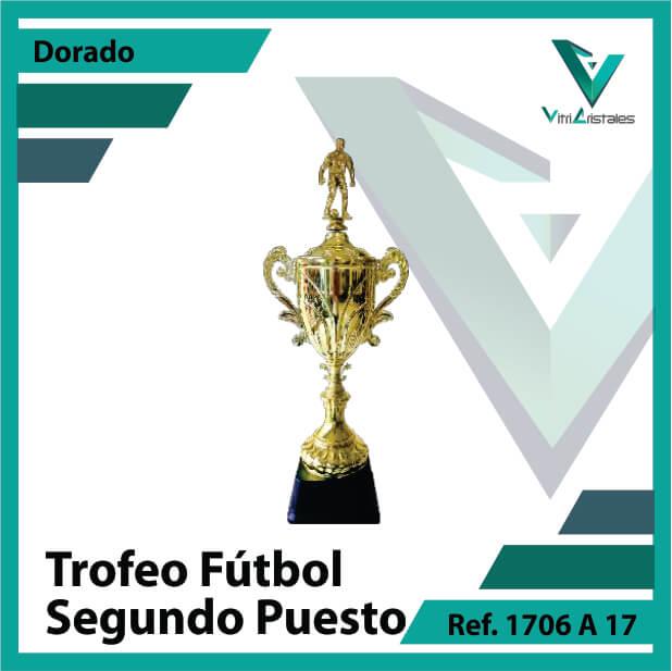 Trofeos deportivos de futbol subcampeon Ref.1706A172ORO para entrega en Bogotá
