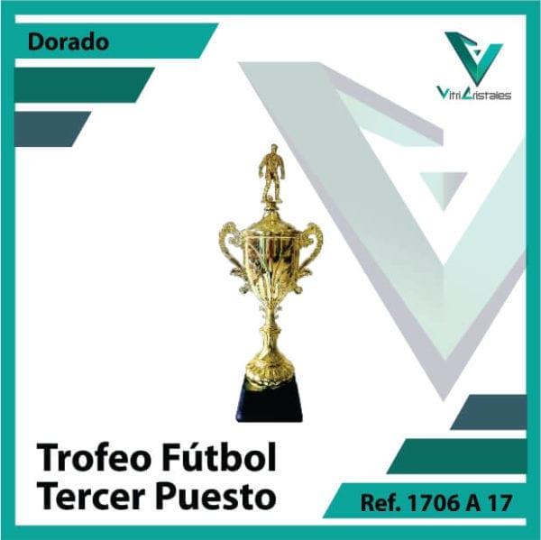 Trofeos deportivos de futbol tercer puesto Ref.1706A173ORO para entrega en Bogotá