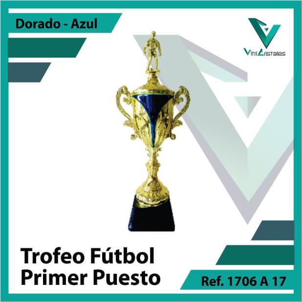 Trofeos de futbol campeon Ref.1706A171ORA para entrega en Bogotá, Medellin, Cali o para envio a todo el pais