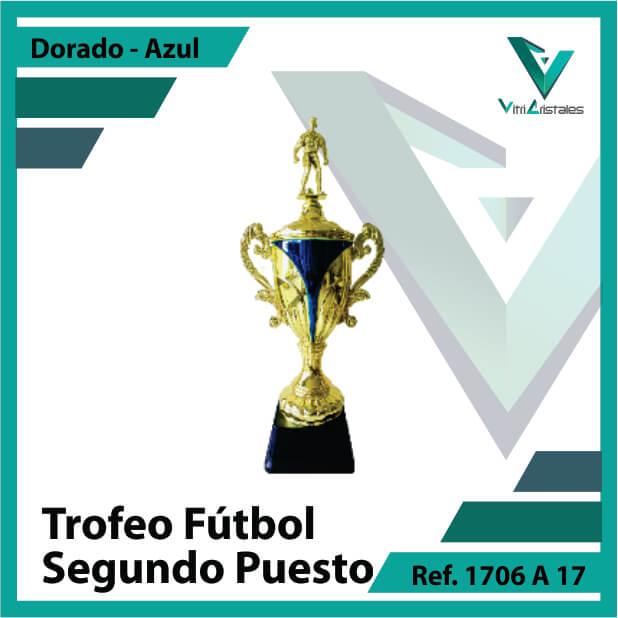Trofeos de futbol subcampeon Ref.1706A172ORA para entrega en Bogotá, Medellin, Cali o para envio a todo el pais