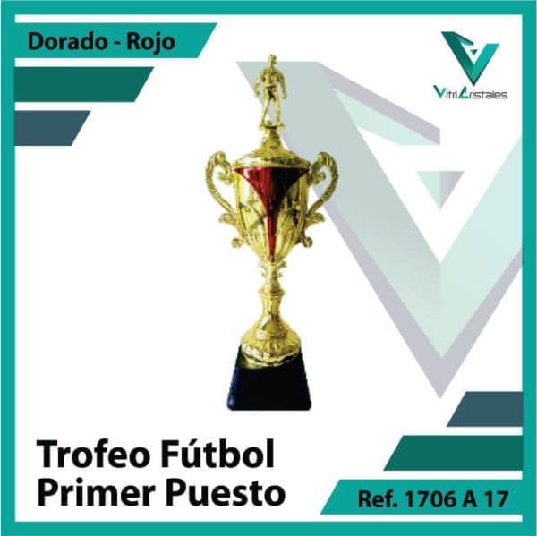 Trofeos deportivos de futbol campeon Ref.1706A171ORR para entrega en Medellin