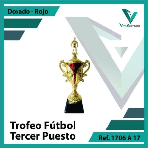 Trofeos deportivos de futbol tercer puesto Ref.1706A173ORR para entrega en Medellin