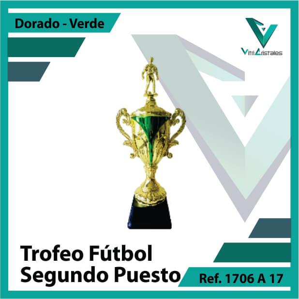 Trofeos deportivos de futbol subcampeon Ref.1706A172ORV para entrega en Cali