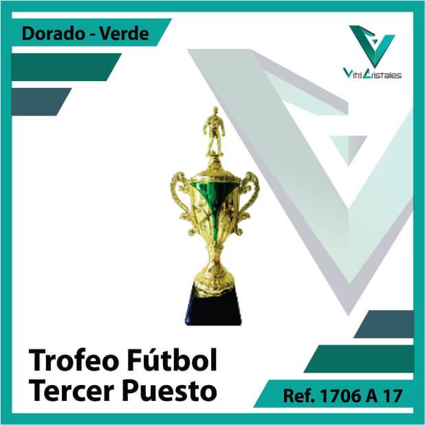 Trofeos deportivos de futbol tercer puesto Ref.1706A173ORV para entrega en Cali