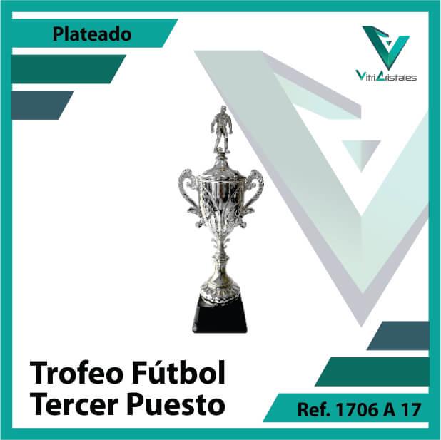 Trofeos deportivos de futbol tercer puesto Ref.1706A173PLA para entrega en Cali