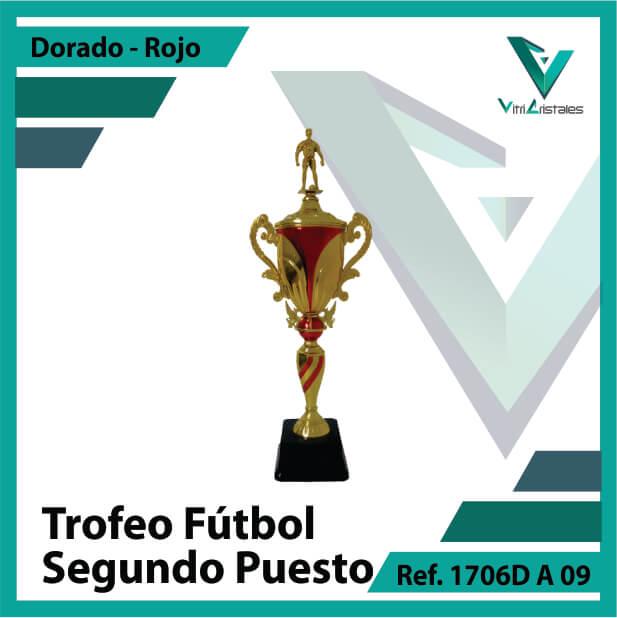 Trofeos deportivos de futbol subcampeon Ref.1706DA092ORR para entrega en Cali