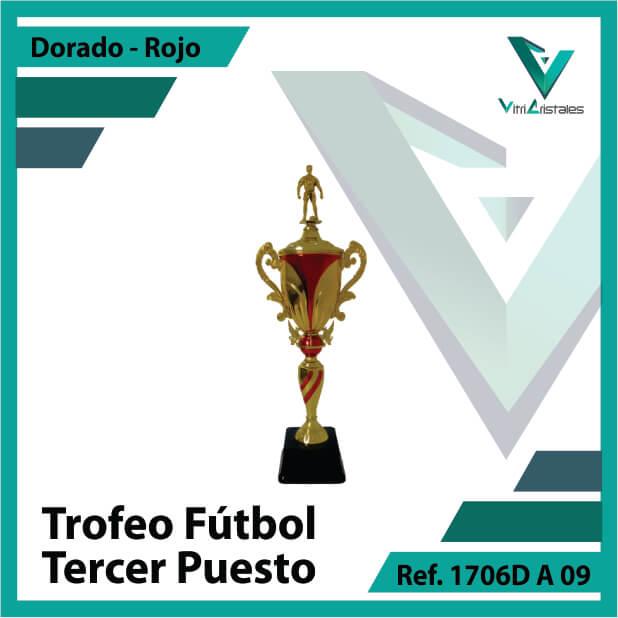 Trofeos deportivos de futbol tercer puesto Ref.1706DA093ORR para entrega en Cali