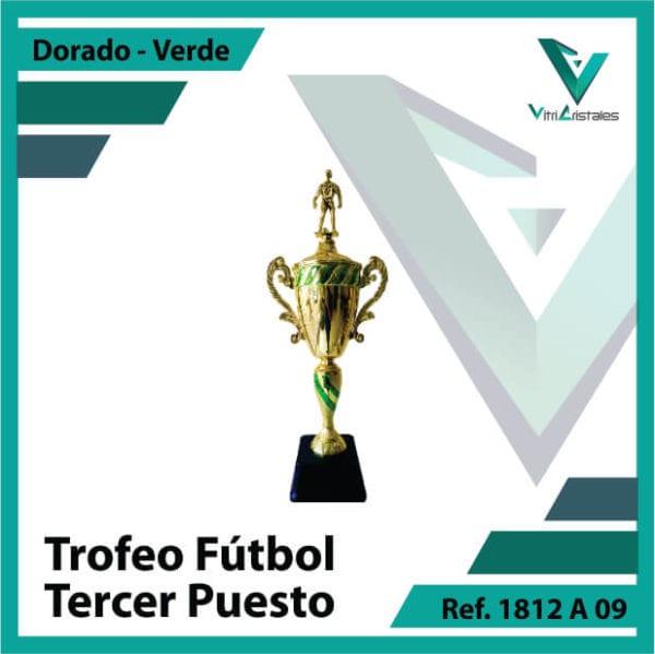 Trofeos de futbol tercer puesto Ref.1812A093ORV para entrega en Bogotá, Medellin, Cali o para envio a todo el pais