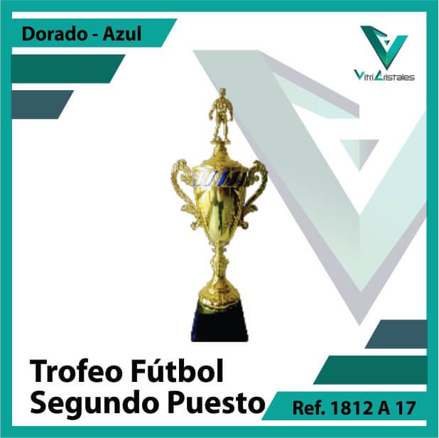 Trofeos deportivos de futbol subcampeon Ref.1812A172ORA para entrega en Medellin