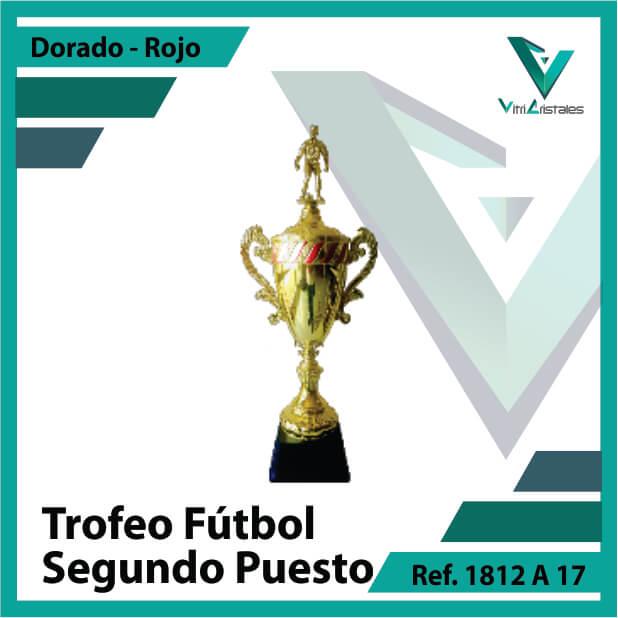 trofeo de futbol 1812a17 dorado y rojo segundo puesto