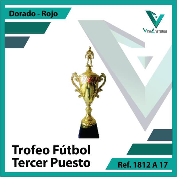 trofeo de futbol 1812a17 dorado y rojo tercer puesto