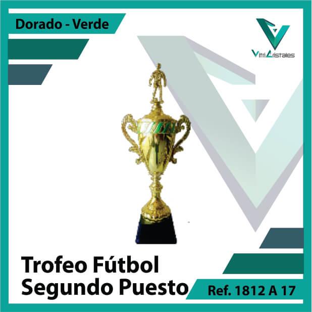 Trofeos deportivos de futbol subcampeon Ref.1812A172ORV para entrega en Bogotá