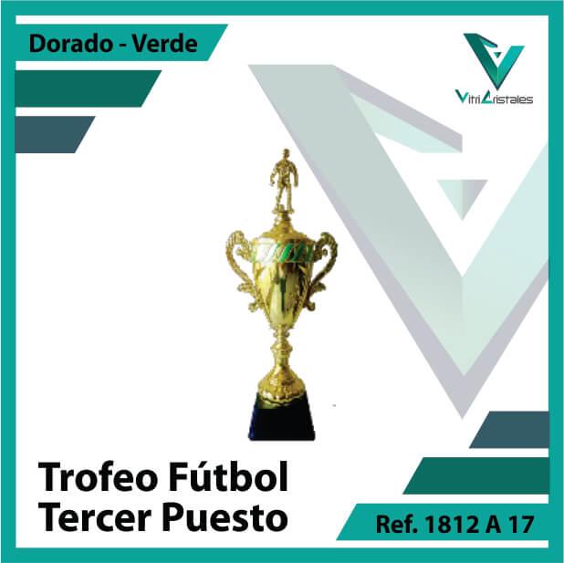 Trofeos deportivos de futbol tercer puesto Ref.1812A173ORV para entrega en Bogotá