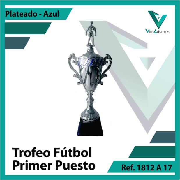 Trofeos deportivos de futbol campeon Ref.1812A171PLA para entrega en Medellin