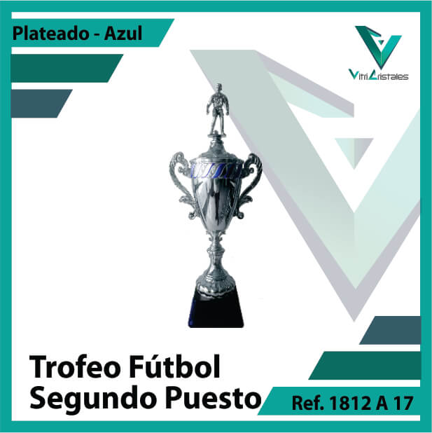 Trofeos deportivos de futbol segundo puesto Ref.1812A172PLA para entrega en Medellin