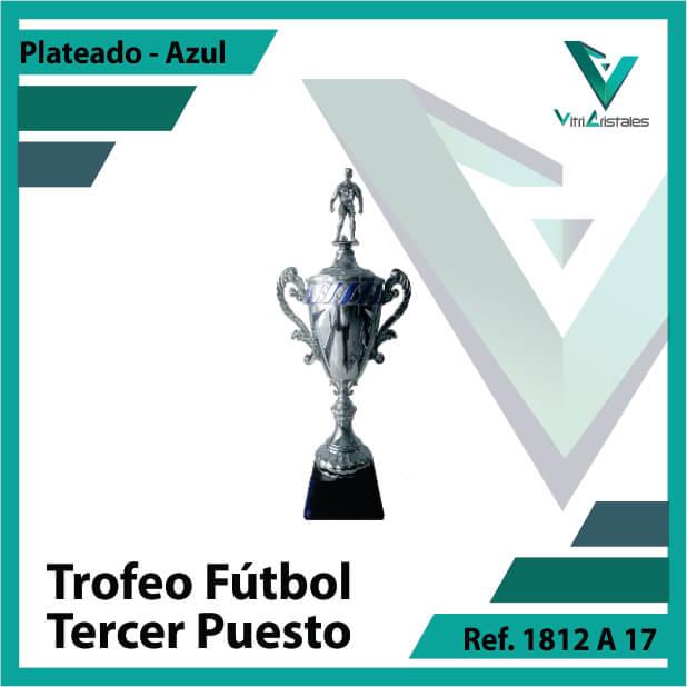 Trofeos deportivos de futbol tercer puesto Ref.1812A173PLA para entrega en Medellin