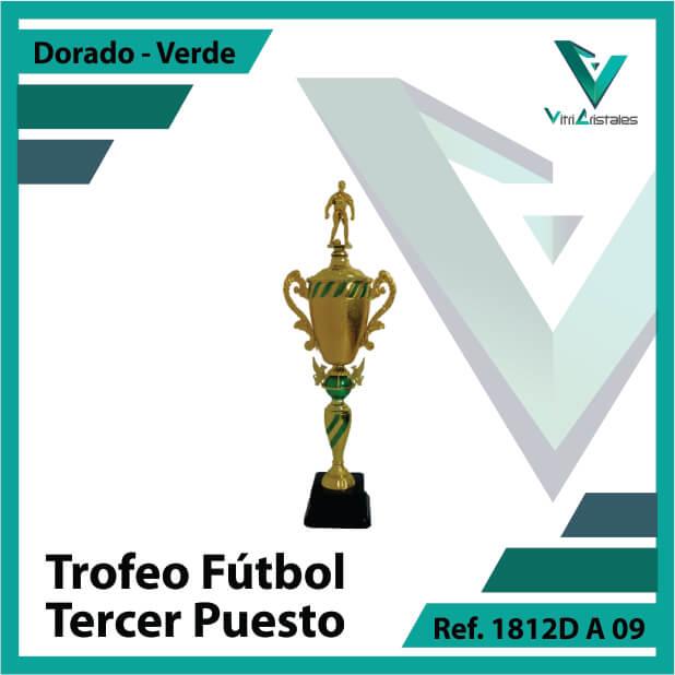 Trofeos de futbol tercer puesto Ref.1812DA093ORV para entrega en Bogotá, Medellin, Cali o para envio a todo el pais