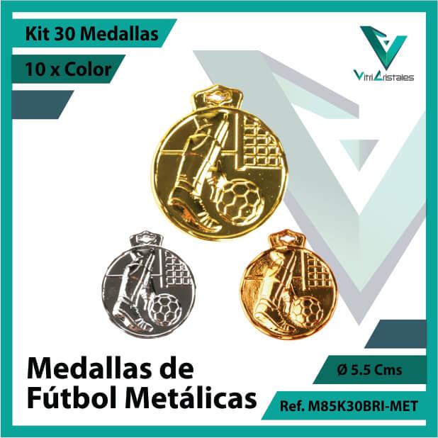 kit de medallas deportivas de futbol metalicas x 30 unidades ref m85k30bri-met