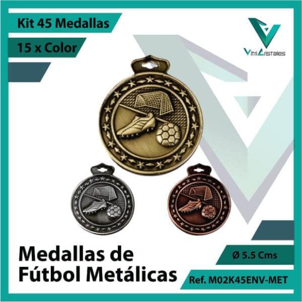 kit de medallas deportivas de futbol metalicas x 45 unidades ref m02k45env-met