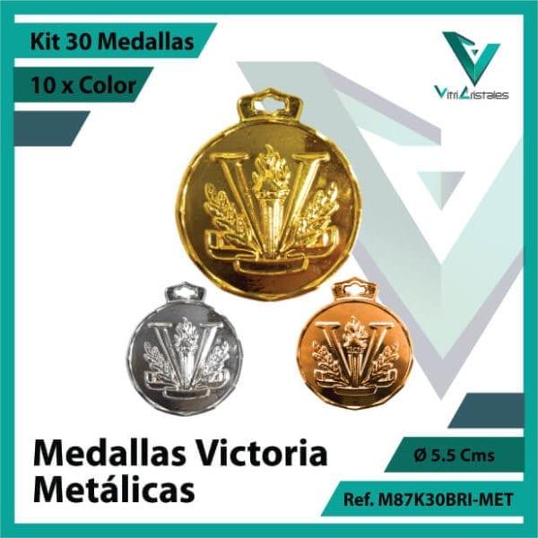 kit de medallas deportivas victoria metalicas x 30 unidades ref m87k30bri-met