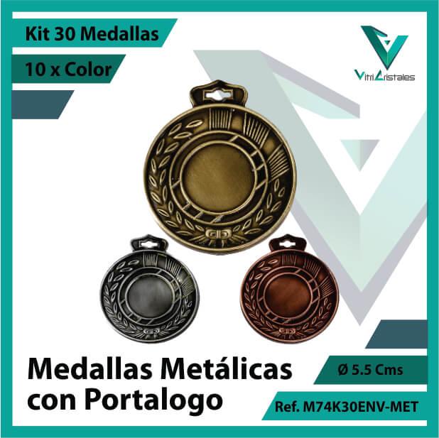 kit de medallas en bogota metalicas con portalogo x 30 unidades ref m74k30env-met