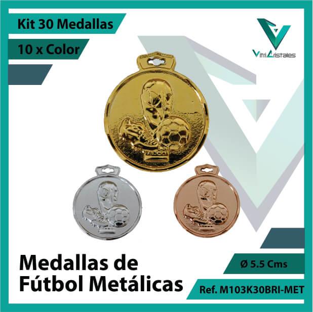 kit de medallas en cali de futbol metalicas x 30 unidades ref m103k30bri-met
