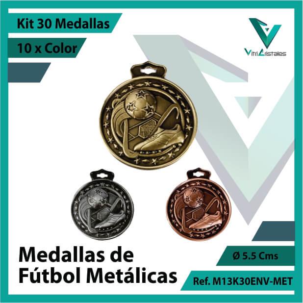 kit de medallas en cali de futbol metalicas x 30 unidades ref m13k30env-met
