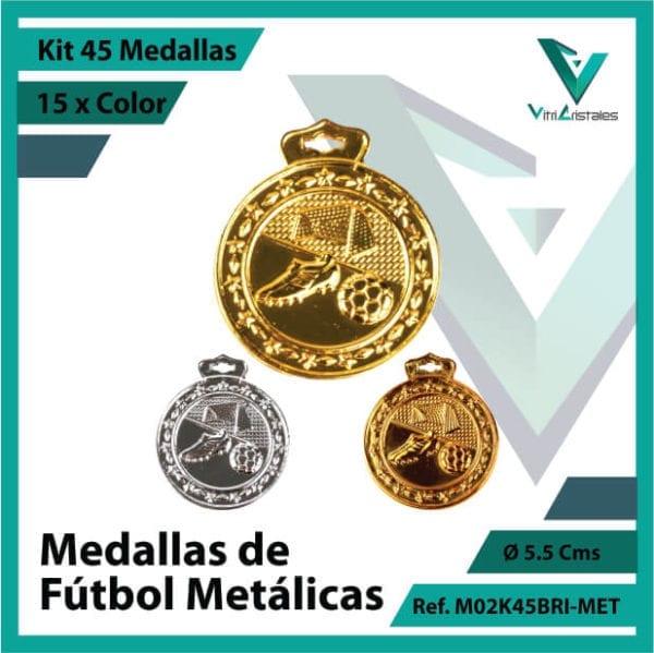 kit de medallas en cali de futbol metalicas x 45 unidades ref m02k45bri-met