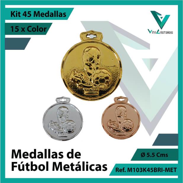 kit de medallas en cali de futbol metalicas x 45 unidades ref m103k45bri-met