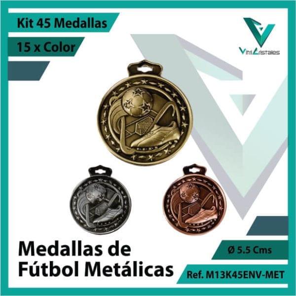 kit de medallas en cali de futbol metalicas x 45 unidades ref m13k45env-met