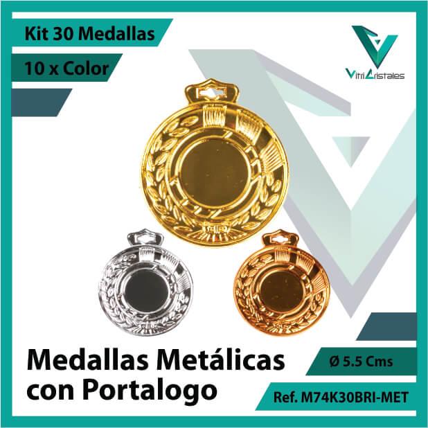 kit de medallas en cali metalicas con portalogo x 30 unidades ref m74k30bri-met