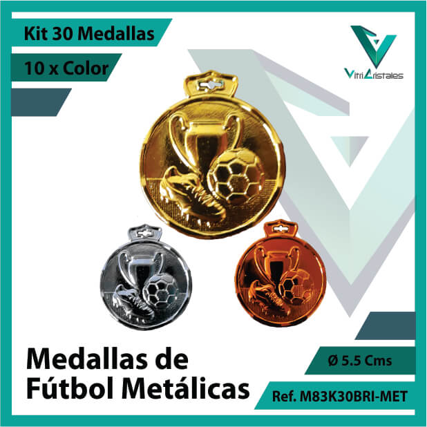 kit de medallas en medellin de futbol metalicas x 30 unidades ref m83k30bri-met