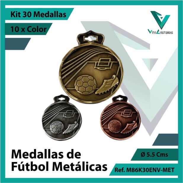 kit de medallas en medellin de futbol metalicas x 30 unidades ref m86k30env-met