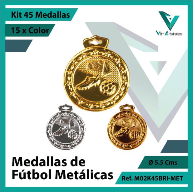 kit de medallas en medellin de futbol metalicas x 45 unidades ref m02k45bri-met