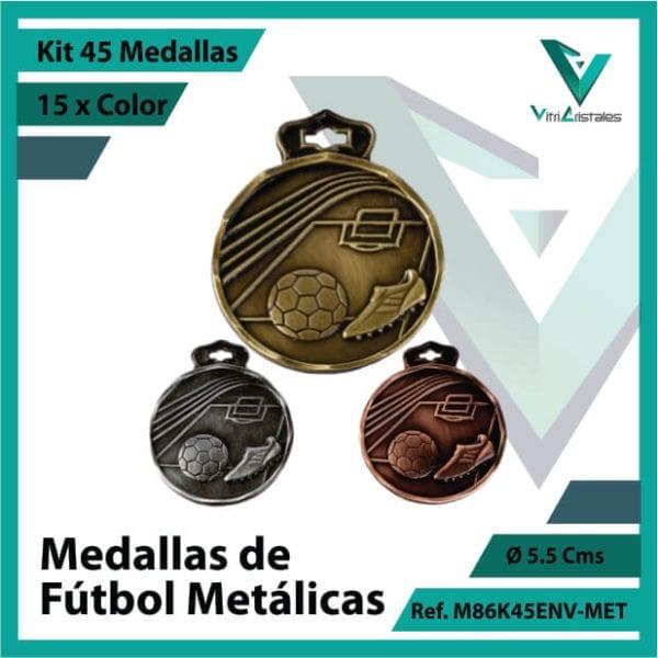 kit de medallas en medellin de futbol metalicas x 45 unidades ref m86k45env-met