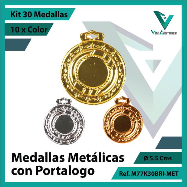 kit de medallas en medellin metalicas con portalogo x 30 unidades ref m77k30bri-met