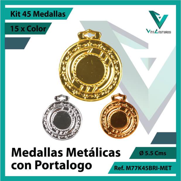 kit de medallas en medellin metalicas con portalogo x 45 unidades ref m77k45bri-met