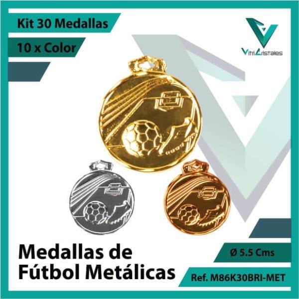 kit de medallas en oro plata y bronce de futbol metalicas x 30 unidades ref m86k30bri-met