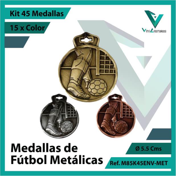 kit de medallas en oro plata y bronce de futbol metalicas x 45 unidades ref m85k45env-met